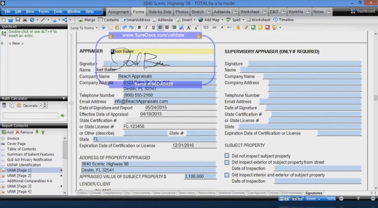 Международный опыт софт для оценщиков Ассоциация  В этой же программе можно подписать отчет электронной подписью оценщика